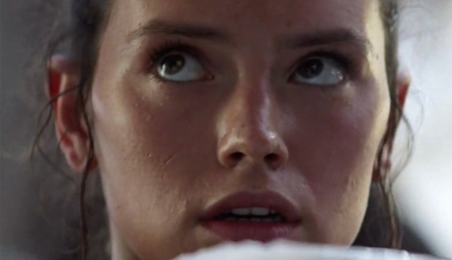 "Daisy Ridley as ""Rey"" in Star Wars: The Force Awakens"