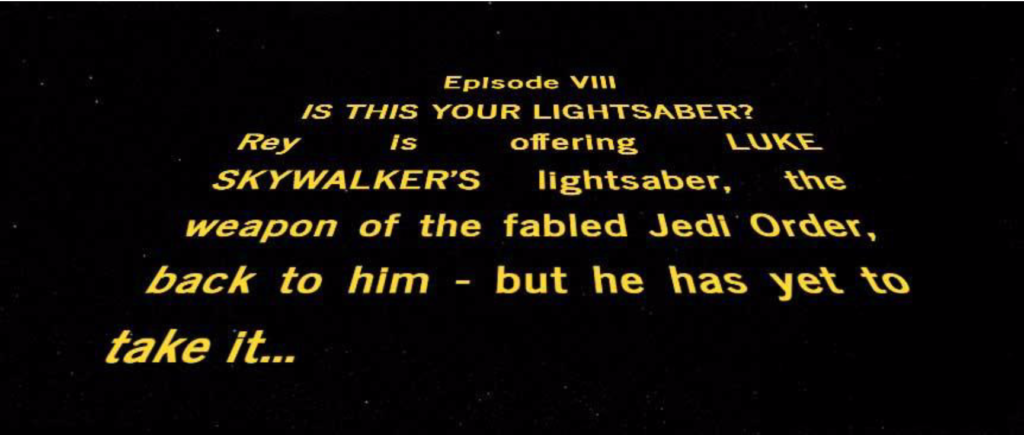 Fake Episode VIII opening crawl