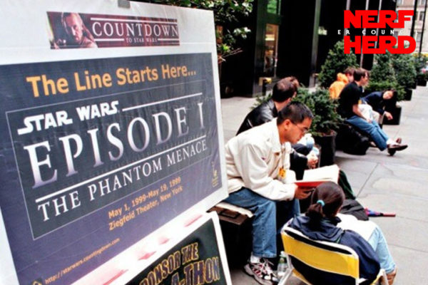 Waiting in line for The Phantom Menace